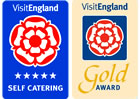 Visit England 5 Stars Self catering and Gold Award