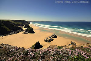 Bedruthan Steps photo by Ingrid King/Visit Cornwall