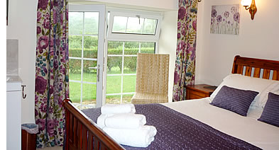 Double bedroom at Lanjew Park holiday cottage