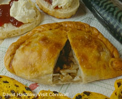 Cornish Pasty and scones by David Hastilow/Visit Cornwall