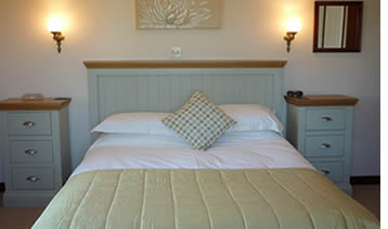 Double bedroom at Penpont Mill holiday cottage
