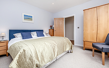 Super King bedroom at Ridgeway Park holiday cottage