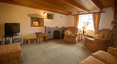 Lounge at The Retreat holiday cottage